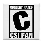 Content Rated C: CSI Fan Tile Coaster