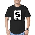Content Rated S: SNL Fan Men's Fitted T-Shirt (dark)