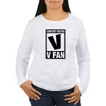 Content Rated V: V Fan Women's Long Sleeve T-Shirt
