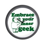 Embrace Your Inner Geek Wall Clock