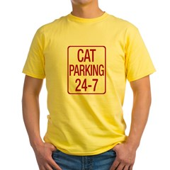 Cat Parking Yellow T-Shirt