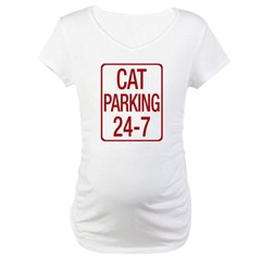 Cat Parking Maternity T-Shirt