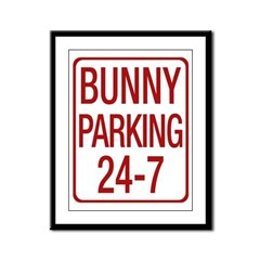 Bunny Parking Framed Panel Print
