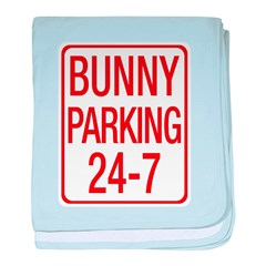 Bunny Parking baby blanket