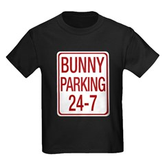 Bunny Parking Kids Dark T-Shirt