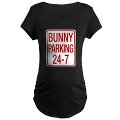 Bunny Parking Maternity Dark T-Shirt