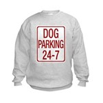 Dog Parking Kids Sweatshirt