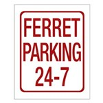 Ferret Parking Small Poster