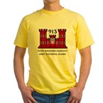 913th Engineer Company Yellow T-Shirt