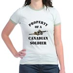 Property of Canadian Soldier Jr. Ringer T-Shirt