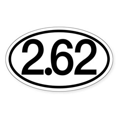 2.62 Sticker (Oval)