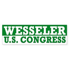 Scott Wesseler for Congress bumper sticker