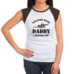 Welcome Home Daddy Military Women's Cap Sleeve T-S