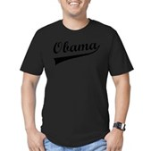 Obama Swish Men's Fitted T-Shirt (dark)