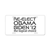 Logical Obama 2012 Aluminum License Plate