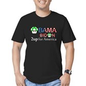 2up for America Men's Fitted T-Shirt (dark)