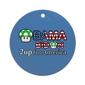 2up for America Ornament (Round)