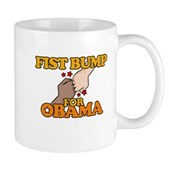 Fist Bump for Obama Mug