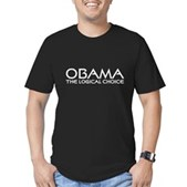 Logical Obama Men's Fitted T-Shirt (dark)