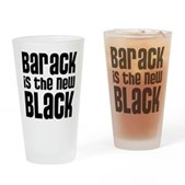 Barack the New Black Drinking Glass