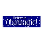 I Believe in Obamagic 42x14 Wall Peel