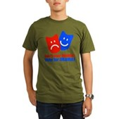 Vote Obama: No Drama! Organic Men's T-Shirt (dark)