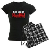See You In Health! Women's Dark Pajamas