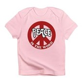 Peace is the word Infant T-Shirt