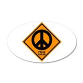 Peace Ahead 38.5 x 24.5 Oval Wall Peel