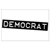 Democrat Label Large Poster