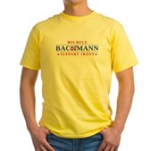 Anti-Bachmann Irony Yellow T-Shirt