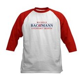 Anti-Bachmann Irony Kids Baseball Jersey