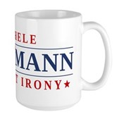 Anti-Bachmann Irony Large Mug