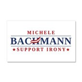 Anti-Bachmann Irony Car Magnet 20 x 12