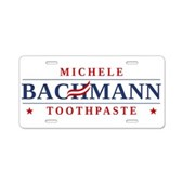 Funny Bachmann Toothpaste Aluminum License Plate