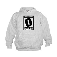 Content Rated Owler Kids Hoodie