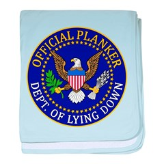 Official Planker Seal baby blanket