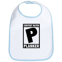 Content Rated Planker Bib