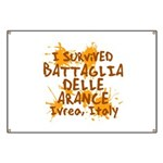 Ivrea Battle Of The Oranges Souvenirs Gifts Tees Banner