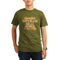 Ivrea Battle Of The Oranges Souvenirs Gifts Tees Organic Men's T-Shirt (dark)