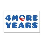 4 More Years Car Magnet 20 x 12