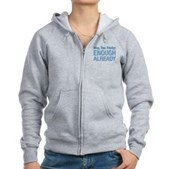 Hey, Tea Party Women's Zip Hoodie