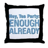 Hey, Tea Party Throw Pillow