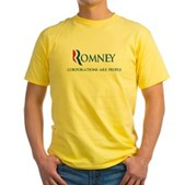 Anti-Romney Corporations Yellow T-Shirt