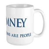 Anti-Romney Corporations Large Mug