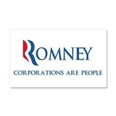 Anti-Romney Corporations Car Magnet 20 x 12