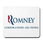 Anti-Romney Corporations Mousepad