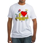 I Heart Schoolhouse Rock! Fitted T-Shirt
