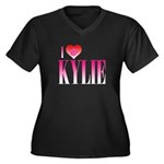 I Heart Kylie Women's Plus Size V-Neck Dark T-Shirt