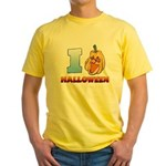 I Love Halloween Yellow T-Shirt